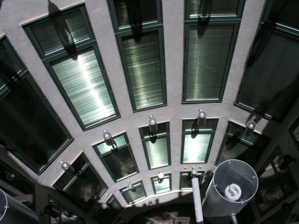 LIGHT CANS IN ATRIUM SHAFT